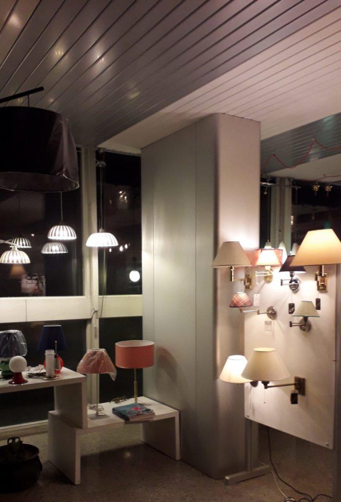 cierre lampadari showroom